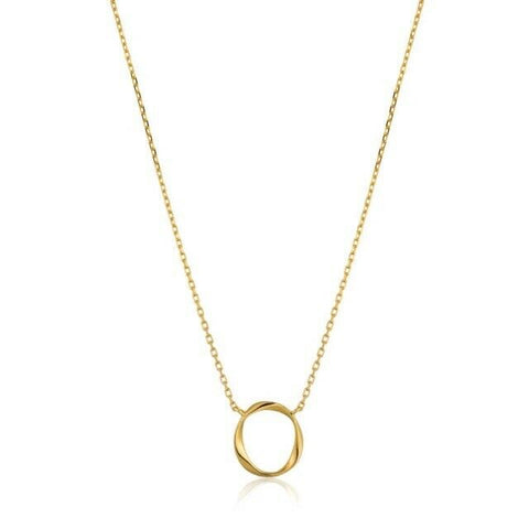 ANIA HAIE Swirl Circle Fine Necklace N015-02G