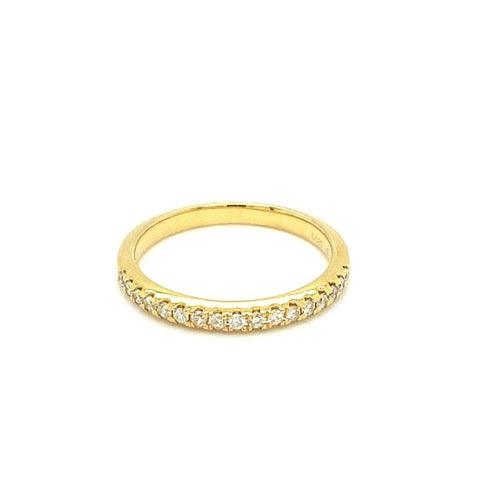 'CLAIRE' 18ct Yellow Gold Half Eternity Diamond Ring LJ5223