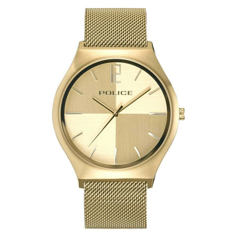 POLICE Orkneys Champagne Dial IP Gold Mesh Band Watch PL.15918JSG/06MM - Lyncris Jewellers