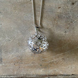 Sterling Silver Filigree Large Ball Pendant LJ8886