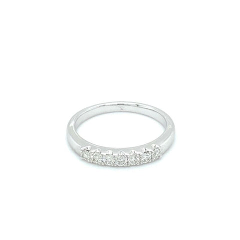 'GIANNA' 18ct White Gold Half Eternity Diamond Ring LJ1699