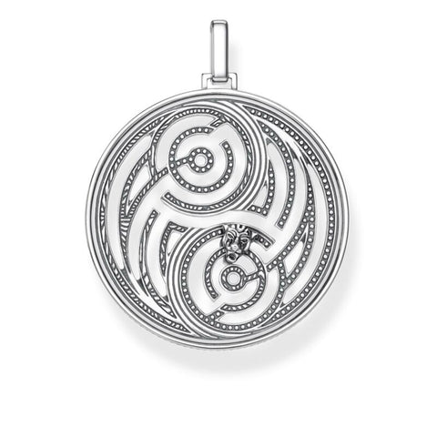 THOMAS SABO Sterling Silver Yin Yang Black Cat Pendant TPE865 - Lyncris Jewellers