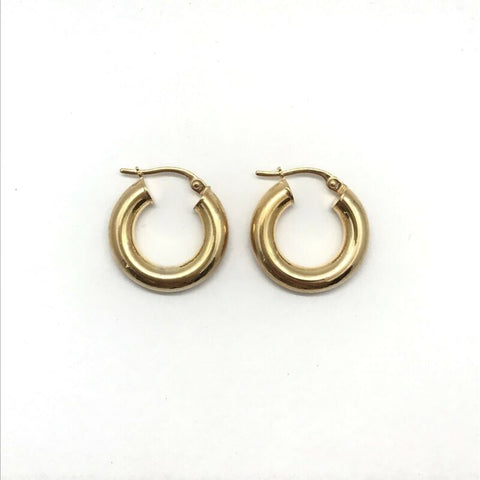 375 9ct Yellow Gold 18mm Full Round Polished Finish Hinged Hoop Earrings - Lyncris Jewellers