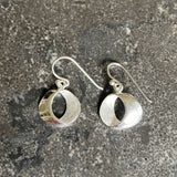 Sterling Silver Circle Drop Earrings LJ10070