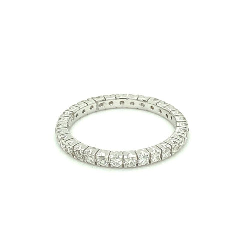 'AMBROSIA' 18ct White Gold Claw Set Eternity Ring LJ2382