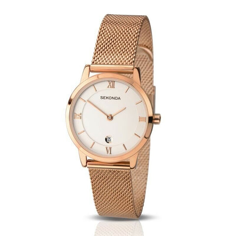 Sekonda Rose Gold Mesh Watch SK2482 - Lyncris Jewellers