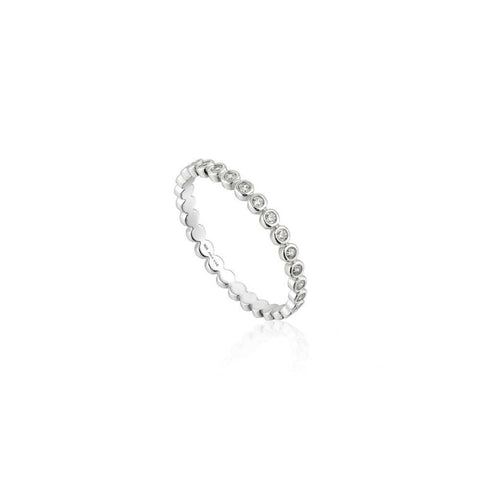 ANIA HAIE Sterling Silver Shimmer Circles Half Eternity Ring R003-01H - Lyncris Jewellers
