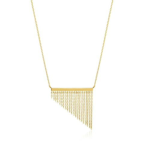ANIA HAIE Fringe Fall Yellow Gold Necklace N013-02G - Lyncris Jewellers