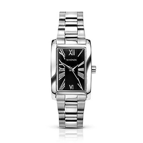 Sekonda 34x22mm Ladies Silver Metal Watch With WHITE Dial Roman Numerals SK4634 - Lyncris Jewellers