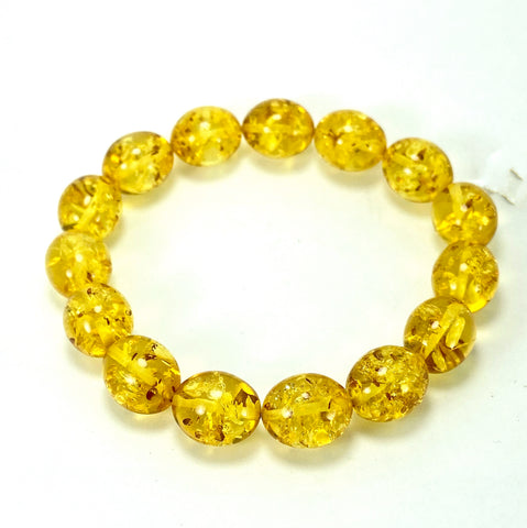 Lemon Baltic Amber Oval-Shaped Bracelet LJ9717 - Lyncris Jewellers