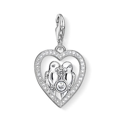 Thomas Sabo Sterling Silver Charm Club CZ Love Birds CC1101