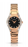 Sekonda Rose Gold Diamante Watch With Black Dial SK2200 - Lyncris Jewellers