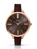 Sekonda Rose Gold Watch With Brown Leather Band SK2250 - Lyncris Jewellers