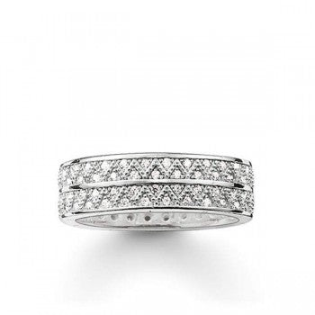 Thomas Sabo Sterling Silver CZ Zig Zag Ring TR2051C - Lyncris Jewellers