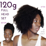 full head set of afro clip ins