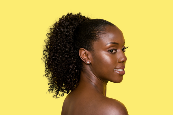 Kinky Curly Drawstring Ponytail Puffs For Black Hair