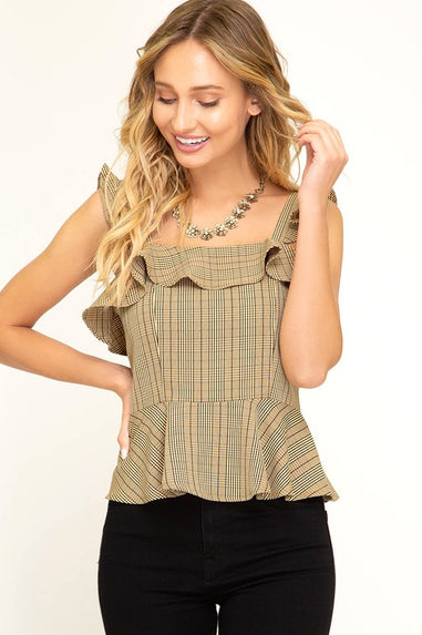 Glen Plaid Tank Top