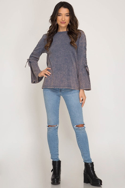 Tunnel Sleeve Knit Top