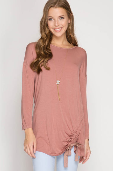 Dusty Rose Open Back Top