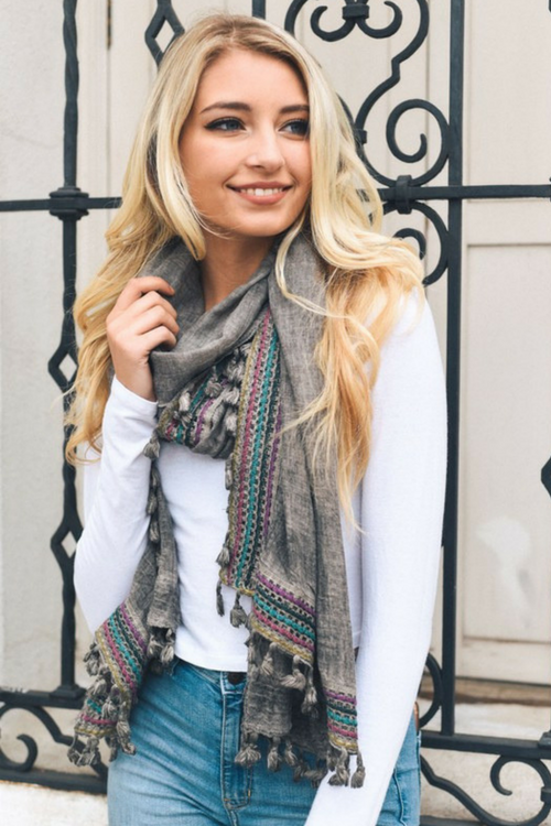 Boho Scarf (Multiple Colors)