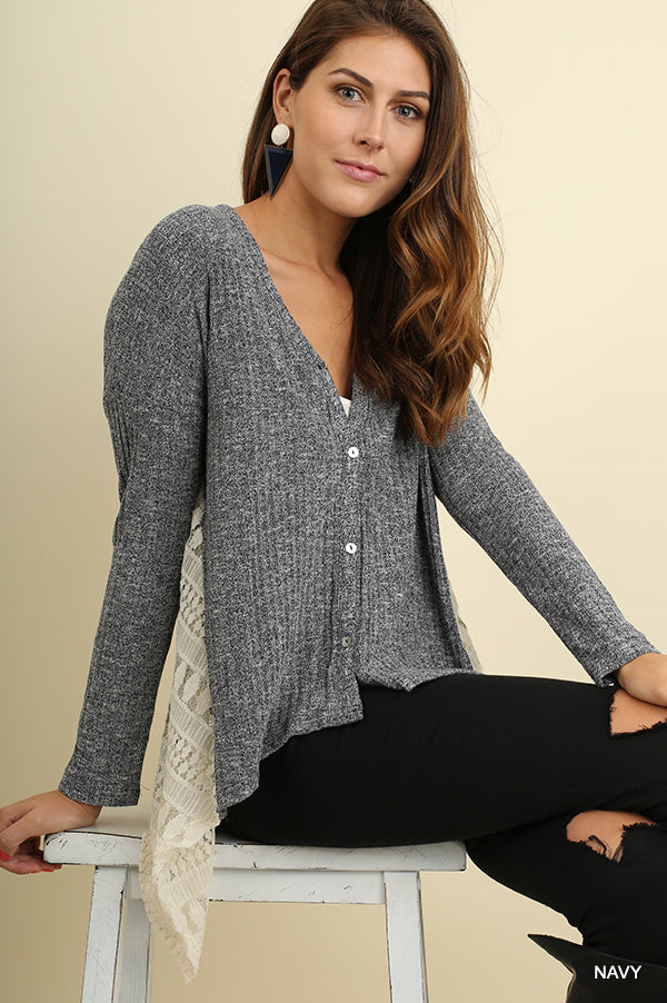 Button Up Knit Cardigan