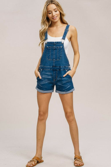 Knox Denim Overall Shorts