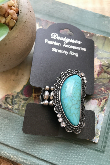 Turquoise Stretchy Ring