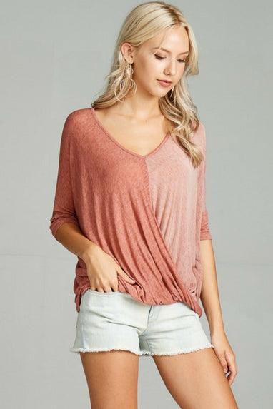 Two Toned Lovers Top (2 Colors)