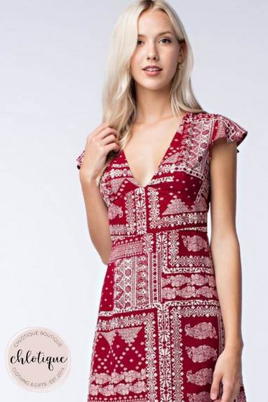 Bandana V-Neck Dress