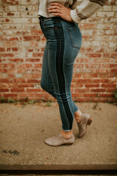 Kyla Striped Denim