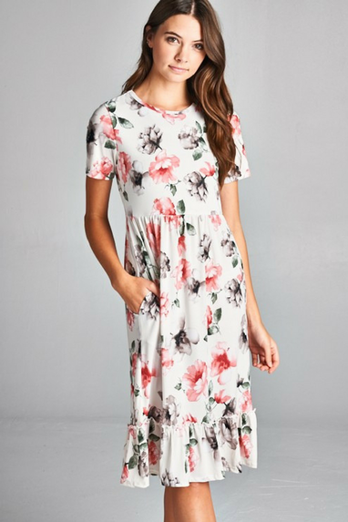 Monarch Midi Floral Dress