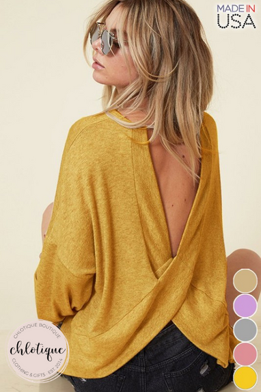 Madelame Sweater Top (Multiple Colors)