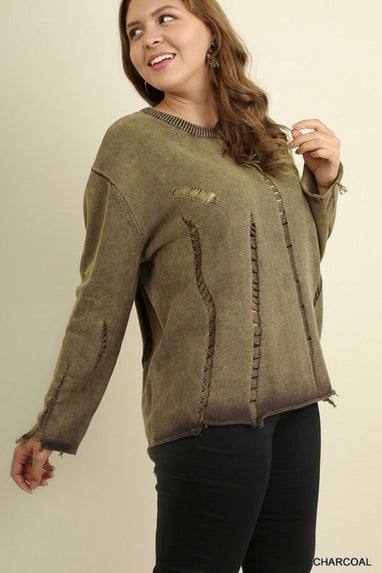 Distressed Sweater - Curvy