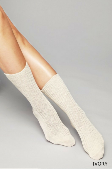 Baby Doll Cable Knit Socks (3 Colors)