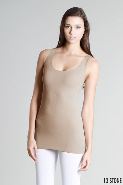 Basic Jersey Ribbed Tank