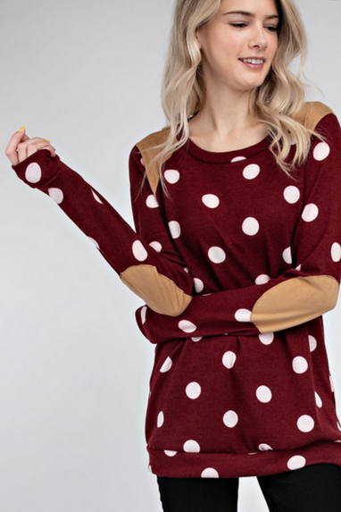 The Smiley Polka Dot Top