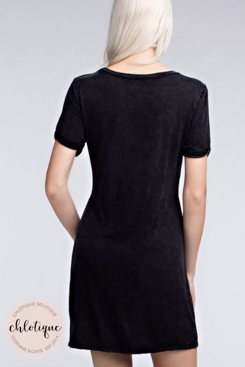 Twisted Tee Dress (2 Colors)
