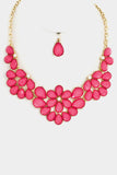 Teardrop Bib Necklace Set