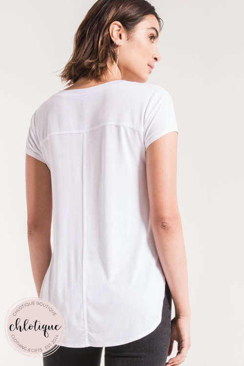 The Mya Premium Sleek V-Neck Tee