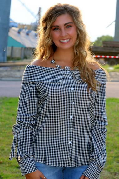 Gameday Gingham Top
