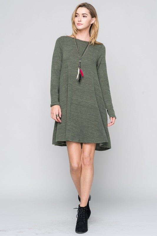 Cozy Sweater Shift Dress