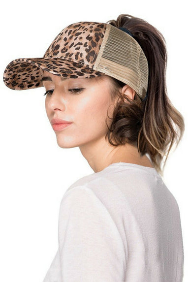 The Cheetah Ponytail Hat by C.C