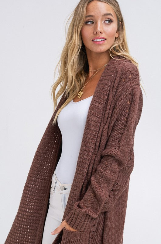 Open Front Cozy Sweater Cardigan