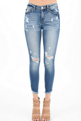 Jemma Distressed Skinny by KanCan