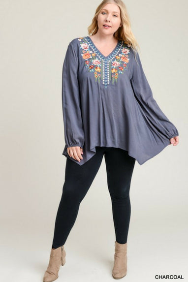 Floral Fever Tunic Top - Curvy