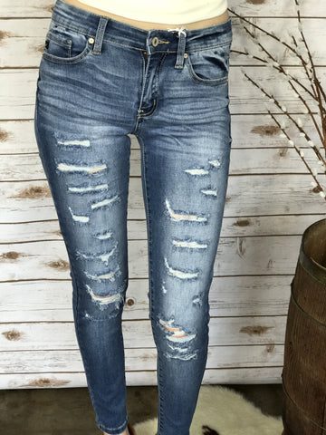 KanCan Dearly Distressed Skinny Jeans