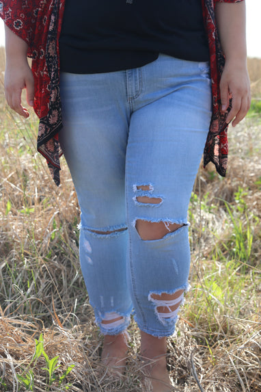Light Wash Skinny Jeans by Cello (Plus Size)
