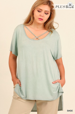 Anaya Mineral Wash Tee-Plus