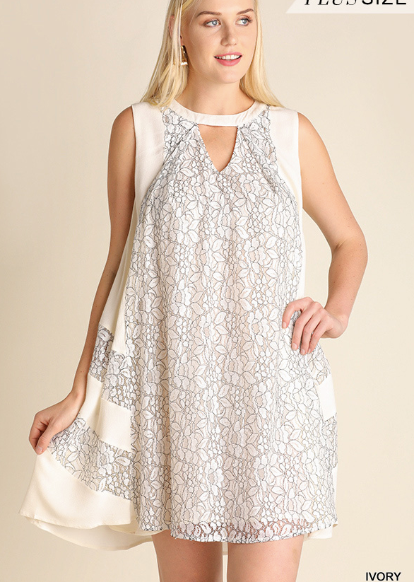 Love Me Tender Lace Tunic/Dress-Curvy