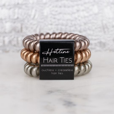 Mixed Metals Hair Tie Set - Black Label Collection